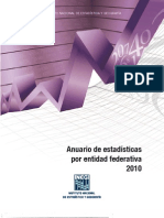 Anuario Estadistico Por Entidades Federeativas