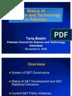 Pakistan Status of S & T in Pakistan