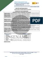 Pronóstico_Meteorológico-Oruro-2011.08.01-2 al 5 de Agosto