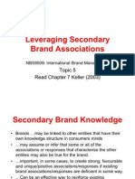 TOPIC 6 Leveraging Secondary Brand Associations - Building Brand Equity - 17-1-11