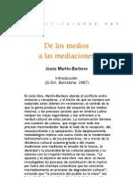 De los medios a las mediaciones - Introducción JMB