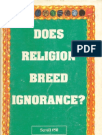 Does Religion Breed Ignorance