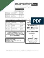 Diploma & PGD - Oct 2011