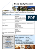 Home Safety Checklist May 2009