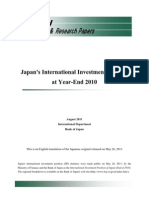 Bank of Japan - International Investment Position YE2010 - Released August 2011