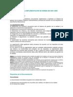 Requisitos Para La Implementacion de Norma Iso 9001