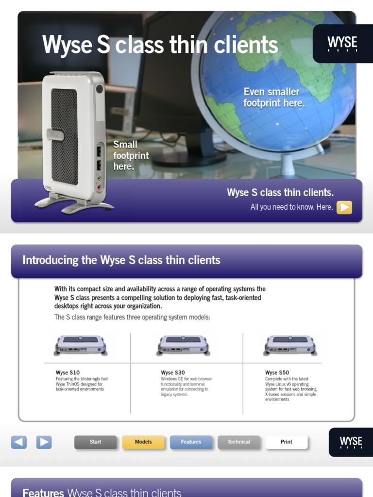 Wyse S Class | Remote Desktop Services | Citrix Systems