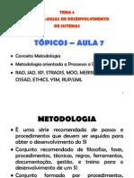 TEMA 2 - As - Metodologias de to de Sistemas de Informacao