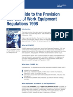 HSE - Simple Guide to the Provision & Use of Work Equipment Regulations 1998