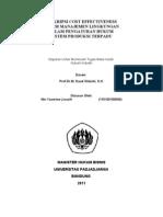 Deskripsi Cost Effectiveness Sistem Manajemen Lingkungan dalam Pengaturan Hukum Sistem Produksi Terpadu-Nin Yasmine Lisasih