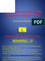 The World's Food & Beverage Companies Top 100 – 2011