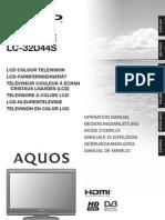 Lc32d44e-S_om_es Manual Es Tv Sharp Aquo