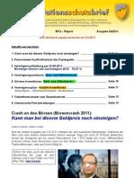 INFLATIONSSCHUTZ-BRIEF (Börsenbrief Börsenmagazin Fachzeitschrift)  Kurz-Ausgabe 24/2011