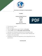 Dct-1230 Analog & Digital Electronics Supplementary Exam June 2011