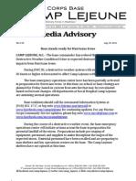 110825 CLJN Irene Media Advisory DWCIII