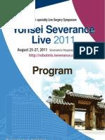 Yonsei Severence Live 2011 Scientific Program