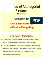 Risk and Refinements of Capital Budgeting