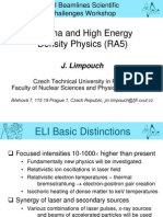 J.limpouch-Plasma and High Energy Density Physics