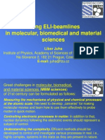 L. Juha-Using ELI-Beamlines in Molecular, Bio Medical and Material Sciences