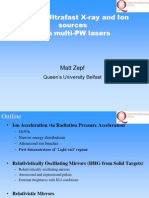 M. Zepf-Ultrafast X-Ray and Ion Sources From Multi-PW Lasers