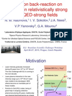N. M. Naumova-Radiation Back-reaction on Electrons in Relativistically Strong and QED-Strong Fields