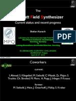 S. Karsch-The Petawatt Field Synthesizer – current status and recent progress