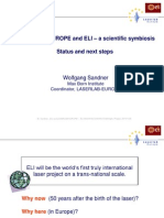 W. Sandner-LASERLAB-EUROPE and ELI – a scientific symbiosis