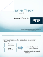 Lecture 3 - Consumer Theory