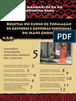 Boletim informativo do  Curso de Gestores Indígenas de MT