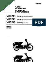 Manual Taller Yamha v80 Modelo 98