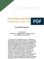 Des médias aux médiations - Introduction JMB