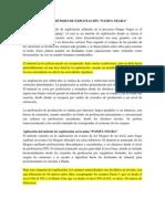 DESCRIPCIÓN DEL MÉTODO DE EXPLOTACIÓN