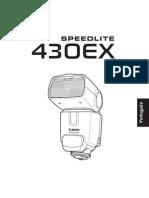 Manual Canon 430ex-Pt