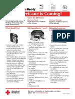 Red Cross Hurricane Checklist - 08-11
