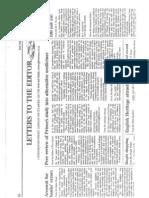 Richard Horton, editor of the Lancet writes to the Times re Professor Edzard Ernst