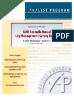 1 13763 ArcSight6-2011 LogMgt Survey