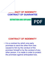 Contract of Indemnity Contract of Guarantee