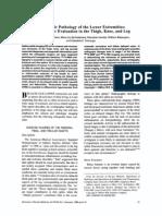 Orthopedic Pathology Lower Extremities