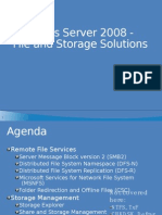 Windows Server 2008 File and Storage Solutions