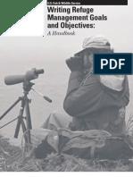 Adamcik- Writing Refuge Management Goals and Objectives