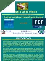 CONTROLE SANITÁRIO EM ABASTECIMENTO DE ÁGUA