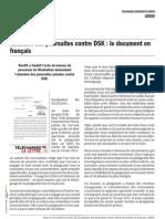 Abandon Des Poursuites Contre DSK - Le Document en Francais