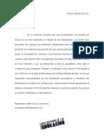 Carta Invitacion Asamblea Popular