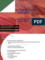 2004 UGM Tips Tricks