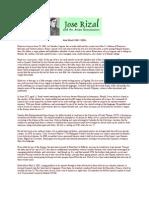 Biography of Rizal