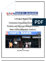 Hdfc Bank-Report-Project on Perception