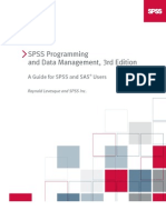 SPSS Programming and Data Management 3rd Edition