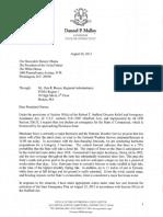 Gov Mally Hurricane Irene Pre Landfall Declaration Request