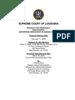Supreme Court of LA ERP RFP