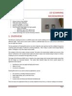 Mezmeriz Scanning Micro Mirror 1D Oscillator Datasheet